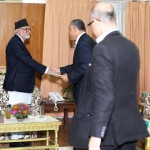 Meeting with the Prime Minister Sushil Koirala