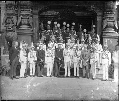 Ceremony on the Occasion of the Establishment of Diplomatic Relations between the United States and Nepal: An Agreement of Commerce and Friendship was signed in Kathmandu between the United States and Nepal, April 25, 1947. (Photo: Ganesh Man Chitrakar 1947)