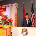 Minister Mahat Addresses National Day of Nepal 2016
